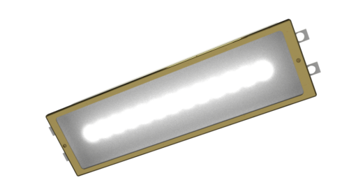Brass Fully recessed LED Emergency Bulkhead