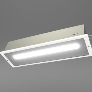 White Fully recessed LED Emergency Bulkhead