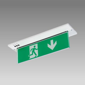 X-MPR3M Self Test Recessed Exit sign